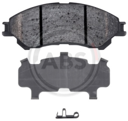 A.B.S. 37612 brake pad set, disc brakes for front axle of Audi, Fiat, Seat, VW