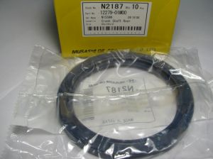Oil seal AS 80x100x10 L-left helix,  Silicone Musashi N2187,  crankshaft rear of на Lada,Nissan,Renault, 12279-01M00