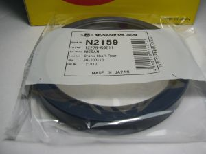 Oil seal AS 80x100x13 L-left helix,  Silicone Musashi N2159, crankshaft rear of Nissan, OEM 12279R4601