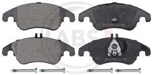A.B.S. 37586 brake pad set, disc brakes for front axle of Mercedes-Benz